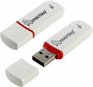 Память Flash USB 16 Gb Smart Buy Crown White (SB16GBCRW-W) фото №4145