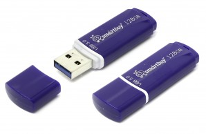 Память Flash USB 128 Gb Smartbuy Crown Blue USB 3.0 фото №6734