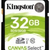 Память SDHC Card 032 Gb Kingston Class 10 UHS-I Canvas Select 80R  (SDS/32GB) фото №13216