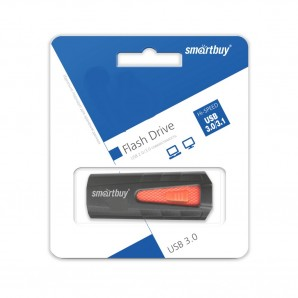 Память Flash USB 32 Gb Smart Buy IRON Black/Red USB 3.0 фото №13841