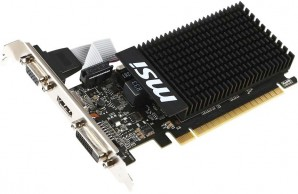 Видеокарта PCI-E 1024Mb GT710 DDR3 MSI (GT 710 1GD3H LP) фото №15024