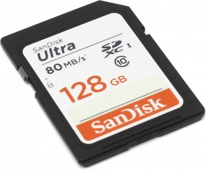 Память SDXC Card 128 Gb SanDisk Class10 Ultra UHS-I 80MB/s (SDSDUNC-128G-GN6IN) фото №15589