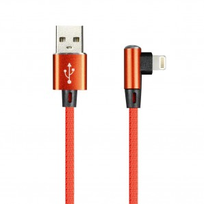 Кабель Smartbuy (ik-512FLL red) USB - 8-pin для Apple,  FLOW 3D L-TYPE красный 2 А, 1 м фото №16433
