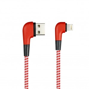 Кабель Smartbuy (ik-512NSL red) USB - 8-pin для Apple, SOCKS L-TYPE красный, 2 А, 1 м фото №16472