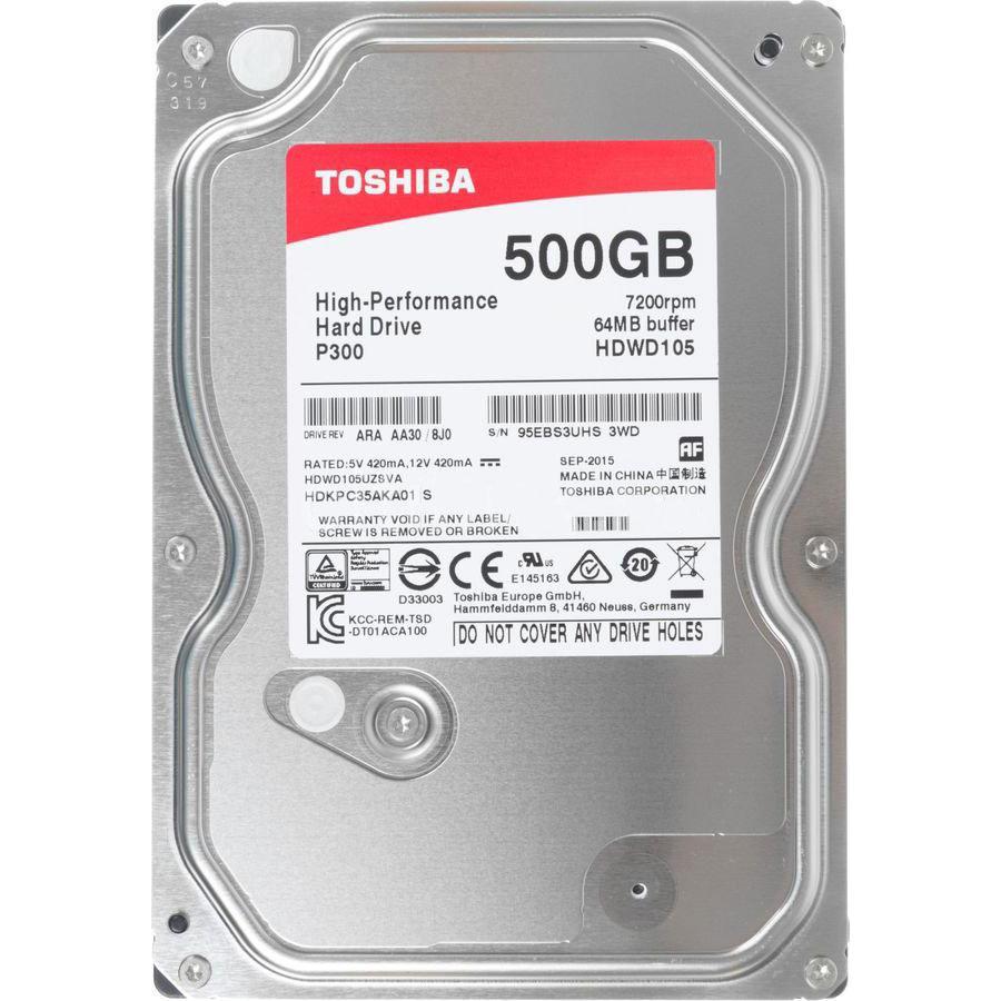 """Toshiba 500Gb, 7200об/мин, 64Mb, 3,5"""", SATA III"""